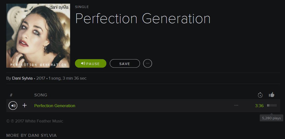 Dani Sylvia - Perfection Generation